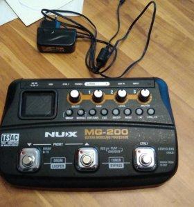 Гитарный процессор Nux MG-200 Торг