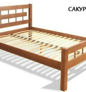 Двух спальная кровать из массива
