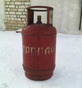 Баллон газовый пропановый 27л. (клапан)