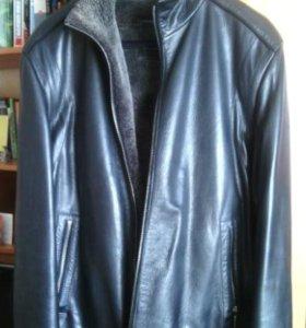 Куртка кожаная Al Franko р 52 зима