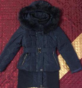 Пуховик пальто-куртка-жилет