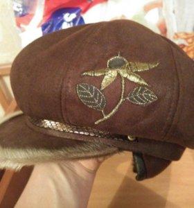 Зимняя шапка на натуральном меху