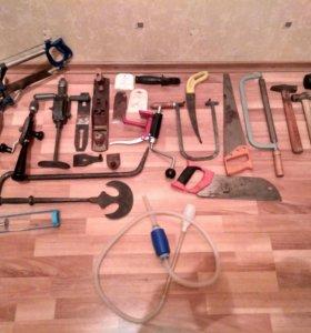 Инструменты пилы молотки дрели шуруповёрты лобзики