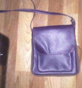 Модная мужская сумка через плечо, в хорошем состоя