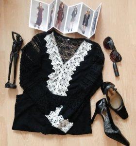 Кружевное платье и туфли