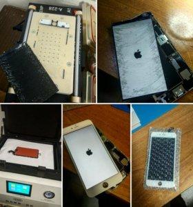 Замена разбитого стекла IPhone, Samsung