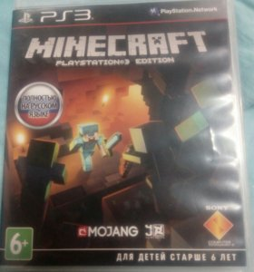 На PlayStation 3, Minecraft.