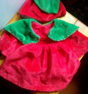 Новогодний костюм вишенка