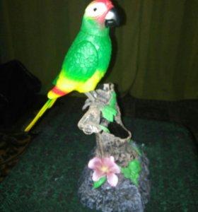 Музыкальная игрушка говорящий попугай