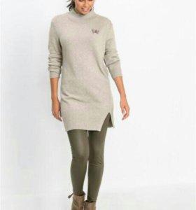 Теплый ультра мягкий удлиненный свитер.