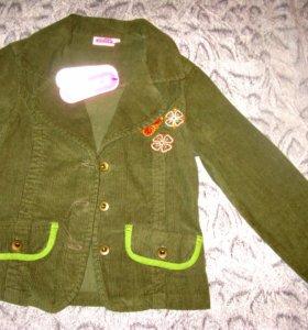 НОВЫЙ стильный пиджак- вельветон