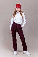 Новые утепленные женские брюки цв. бордо (плащевка