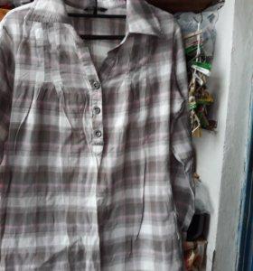Рубашка- туника хлопок 100% 46р-р