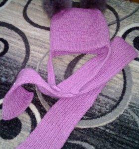 Шапочка и шарфик от 1г до 2л