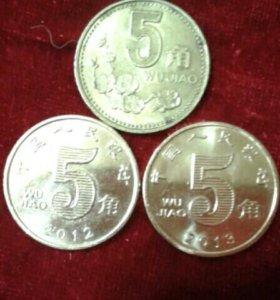 5 джао Китай разных годов