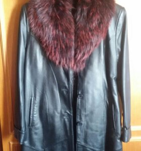 Пальто кожаное 44-46