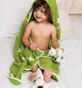 "Happy Baby Полотенце с капюшоном ""Fluffy"" зеленое"