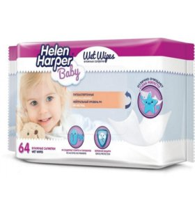 Helen Harper Детские влажные салфетки, 64 шт.