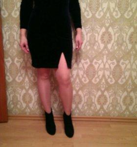 Платье, велюр