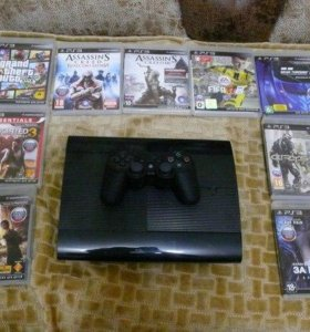 Sony PlayStation 3 Super Slim 500 GB + 9 дисков