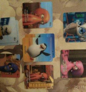 Карточки Пингвины Мадагаскара