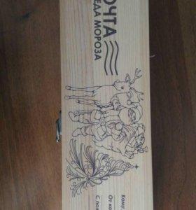 Упаковка деревянная, подарочная для бутылки