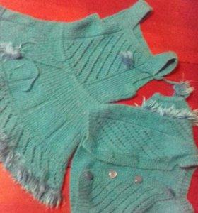 Вязанные новые платья на девочку 4-6 лет
