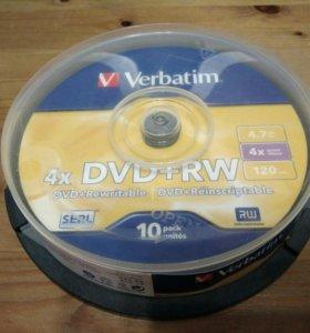 Диск Verdatim DVD+RW 4,7Гб