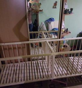 Детская кровать для двойни