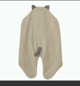Одеяло для малышей с капюшоном