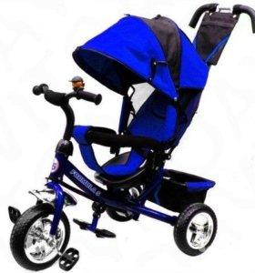 Детский велосипед трехколесный Formula1 Black-Blue