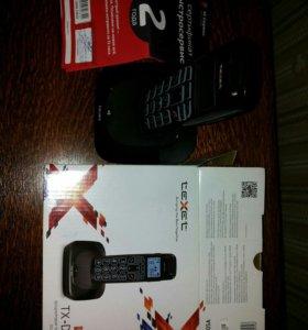 Бесшнуровой телефонный аппарат texet TX-D7505A