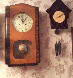 Часы старинные первые и другие с кукушкой