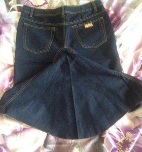 Юбка джинсовая размер 46