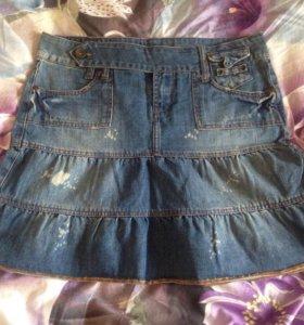 Юбка джинсовая размер 48