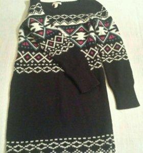 Шерстяное платье Bershka