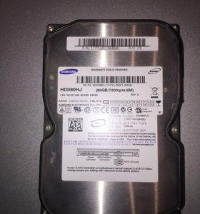 Жёсткий диск для компьютера на 80 ГБ
