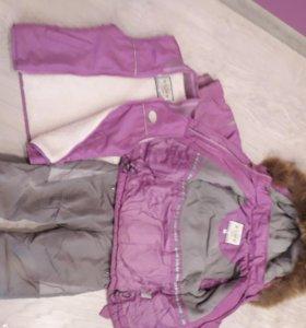 Тройка: куртка, комбинезон и жилетка