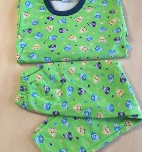 Пижама тёплая на 6-7 лет