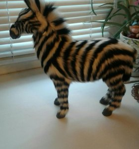 Фигура зебра украшение интерьера сувенир