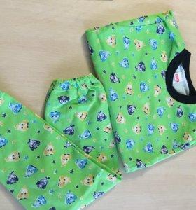 Новая тёплая пижама на 7-8 лет