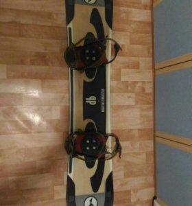 Сноуборд+крепы+ботинки 146см