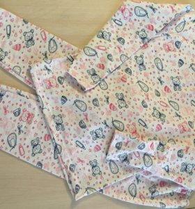 Пижама тёплая новая на 8-9 лет