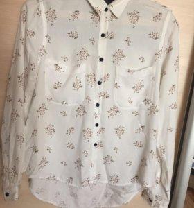 Рубашка в цветочек (xs-s)