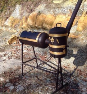 Продам мангал с печью для казана, барбекю.