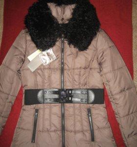 Новая утепленная куртка, натуральный мех
