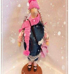 Кукла ручной работы подарки на Новый год.