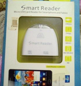 OTG картридер для смартфона и планшета. Новый в уп