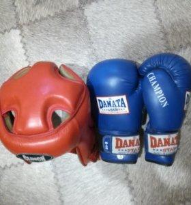 Шлем и перчатки для ребенка