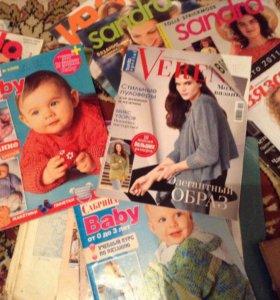 Журналы. Книги по вязанию